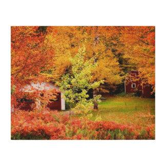 Autumn Landscape Wood Canvas