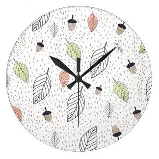Autumn Large Clock
