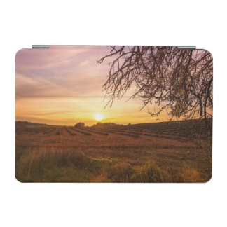 Autumn lavender field on sunset iPad mini cover