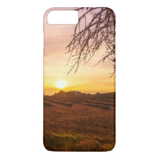 Autumn lavender field on sunset iPhone 8 plus/7 plus case