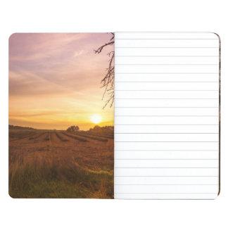 Autumn lavender field on sunset journal