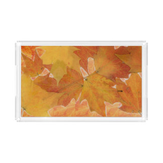 Autumn Leaf Acrylic Tray