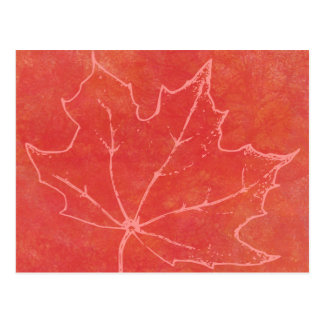 Autumn Leaf Art Postcard