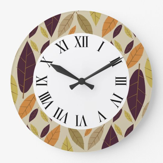 Autumn Leaf Assortment wall clock
