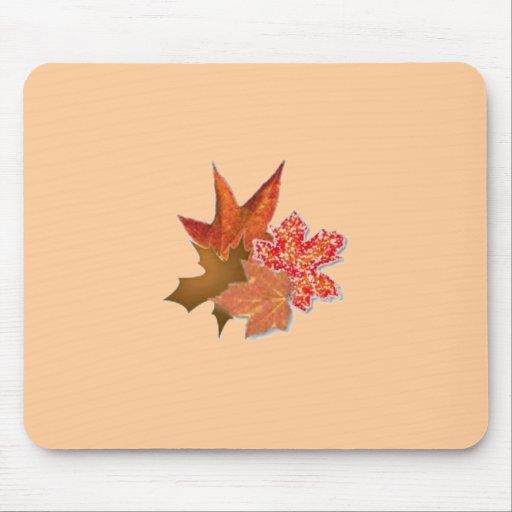 Autumn Leaf Cluster Mouse Mats