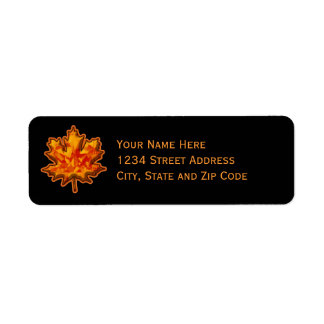 Autumn Leaf Gem Return Address Label