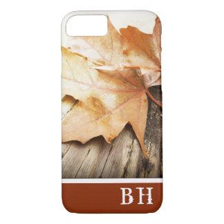 Autumn Leaf iPhone 7 Case With Monogram Template