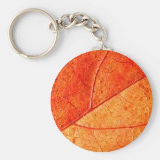 Autumn Leaf Key Ring Basic Round Button Key Ring