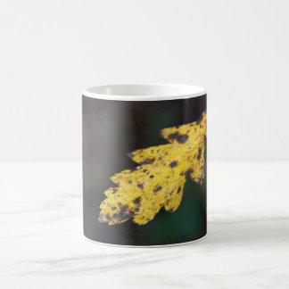 Autumn leaf classic white coffee mug
