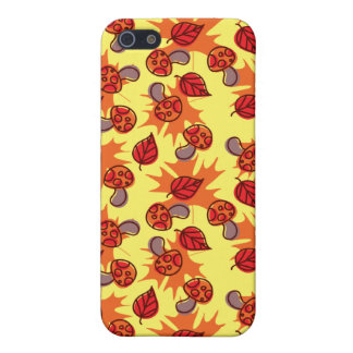 Autumn Leaf Mushroom Pattern Covers For iPhone 5