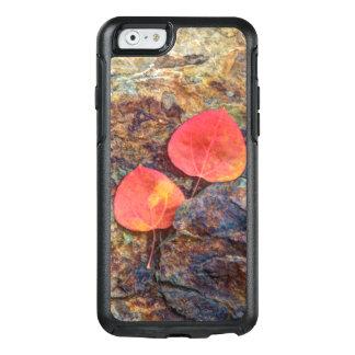 Autumn leaf on rock, California OtterBox iPhone 6/6s Case