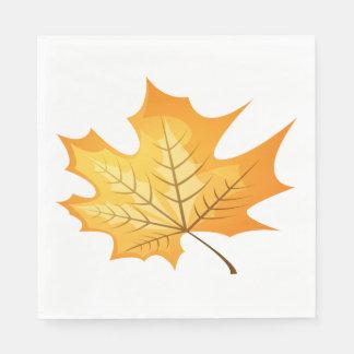 Autumn Leaf Orange Wedding Disposable Serviette