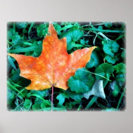 Autumn Leaf Painting Print