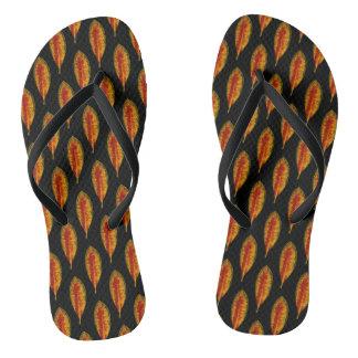 Autumn Leaf Pattern Flip Flops