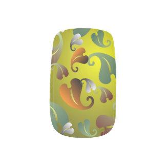Autumn Leaf Pattern Minx Nail Art