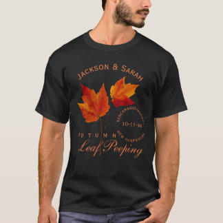 Autumn Leaf Peeping Personalized T-Shirt