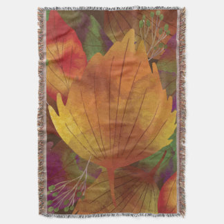 Autumn Leaf Throw Blanket