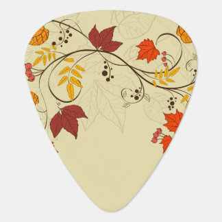 Autumn Leaf Vines with Customizable Text Plectrum