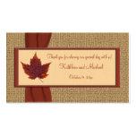 Autumn Leaf Wedding Favour Tag