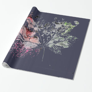 Autumn leaf wrapping paper