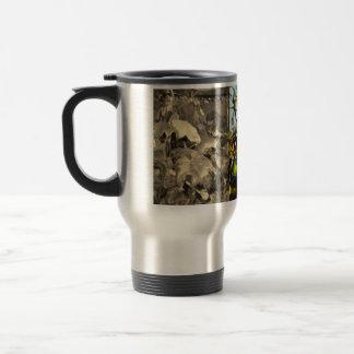 autumn leafes stainless steel travel mug