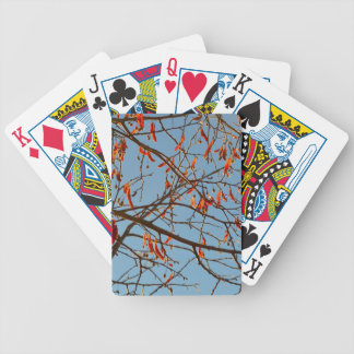 Autumn leafs bicycle playing cards