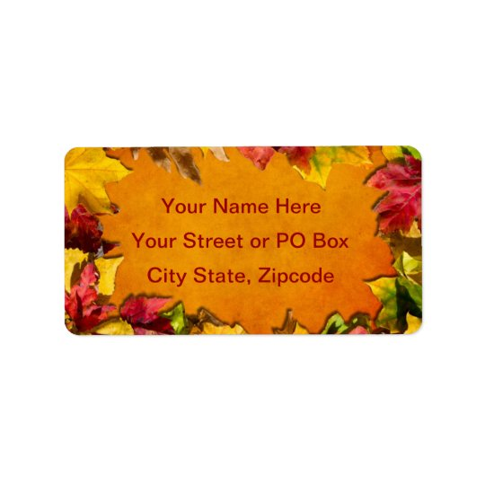 Autumn Leaves 1 Label