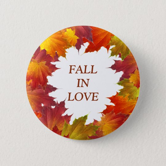 Autumn Leaves 6 Cm Round Badge