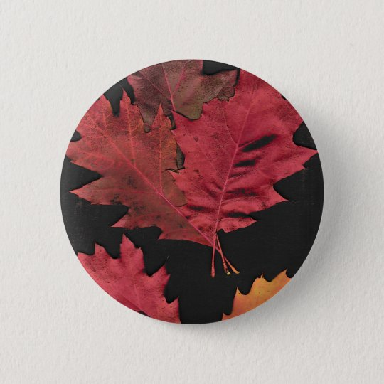 Autumn Leaves 6 Cm Round Badge