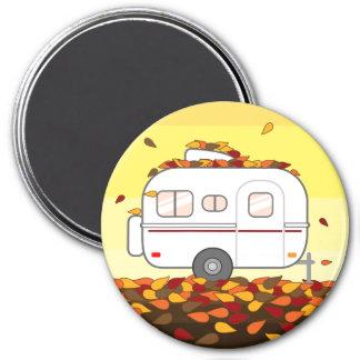 Autumn Leaves 7.5 Cm Round Magnet