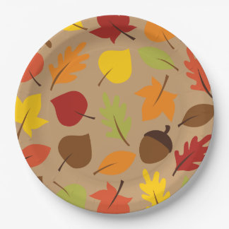 Autumn Leaves 9 Inch Paper Plate
