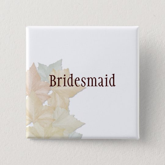 Autumn Leaves, A Fall Wedding Badge Name Tag