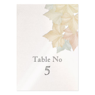 Autumn Leaves, A Fall Wedding Pearl Table No Card Business Card