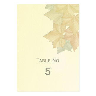 Autumn Leaves, A Fall Wedding Table Place Card Business Card