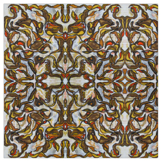 Autumn Leaves - Abstract Art Handpainted Fabric