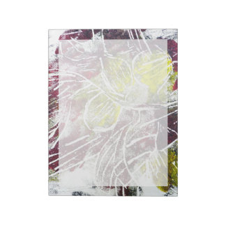 Autumn Leaves. Abstract in Red and Yellow. Notepad