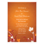 Autumn Leaves Abstract Wedding Invitation
