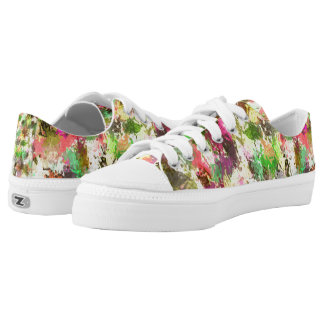 Autumn Leaves Abstract Zipz Low Top Adult Shoes Printed Shoes
