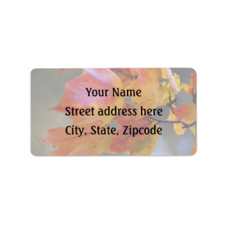 Autumn Leaves Address Label