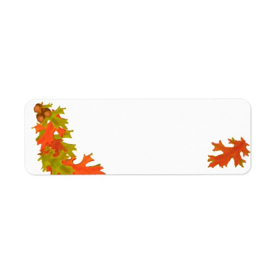 Autumn leaves, address labels
