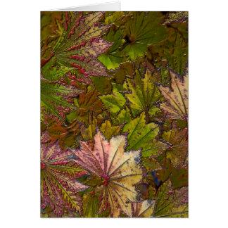 Autumn Leaves: Albert Camus - Note Card