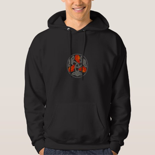 Autumn Leaves and Celtic Knot Hooded Top