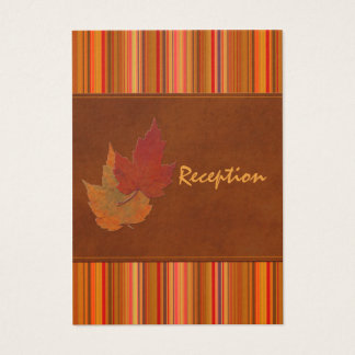 Autumn Leaves and Stripes Enclosure Card
