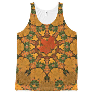 Autumn Leaves Are Falling. All-Over Print Tank Top