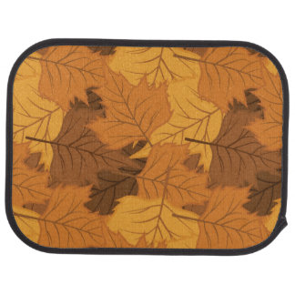 Autumn leaves background car mat