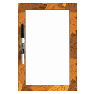 Autumn leaves background dry erase board