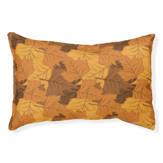 Autumn leaves background pet bed