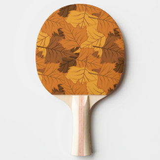 Autumn leaves background ping pong paddle