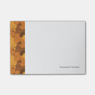 Autumn leaves background post-it® notes