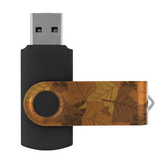 Autumn leaves background USB flash drive
